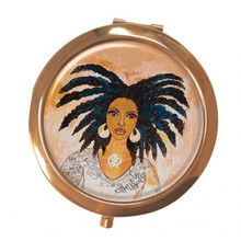 "Nubian Queen Magnifying Compact Mirror--Sylvia ""GBaby"" Cohen"