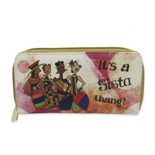 It's a Sista Thang! Long Wallet-- Kiwi McDowell