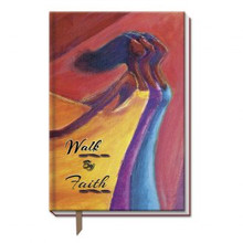 Walk By Faith  Large Cloth Journal--Kerream Jones