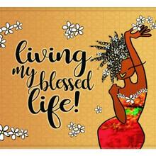 Living My Blessed Life Memory Foam Floor Mat --Kiwi McDowell