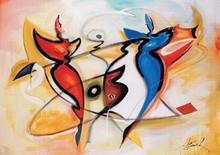 Dancing Angels Art Print - Alfred Gockel