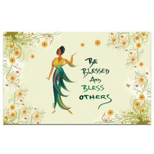 Be Blessed and Bless Others Interior Floor Mats --Cidne Wallace