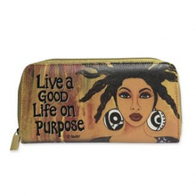 "Live A Good Life On Purpose Long Wallets--Sylvia ""GBaby"" Cohen"