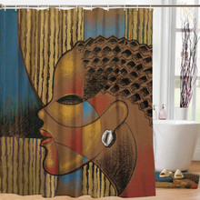 "Composite Of A Woman Designer Shower Curtain --Larry ""Poncho"" Brown"