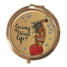 Living My Blessed Life Magnifying Compact Mirrors--Kiwi McDowell