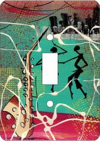 Cuban Sax Single Light Switch Cover