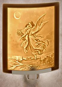 GUARDIAN ANGEL Curved Panel Night Light-- Lithophanes