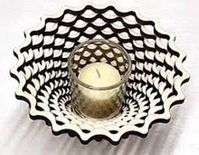 "Weave 9"" Votive--Baltic By Design"