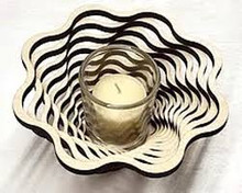 "Spiral 9"" Votive--Baltic By Design"