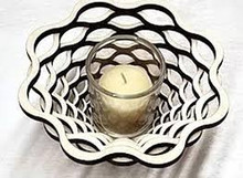"Basket 9"" Votive--Baltic By Design"