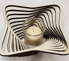 "Square 9"" Votive--Baltic By Design"