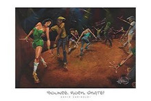 Bounce, Rock, Skate! (36 x 24) Art Print - David Garibaldi