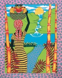 Bamboo Falls Art Print --Debbie Cooper
