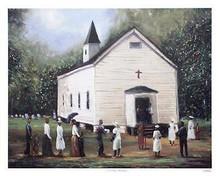 Sunday Worship Art Print-- Ted Ellis