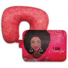 """I Am Powerful Convertible Neck Pillow (DST)--Sylvia""""GBaby""""Cohen"""