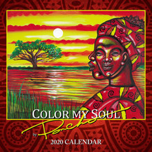"""Color My Soul 2020 African American Wall Calendar -Larry """"Poncho"""" Brown"""