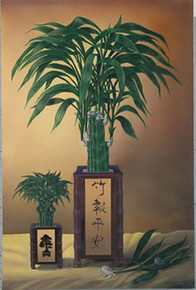 Lucky Bamboo I Art Print - David Gunter