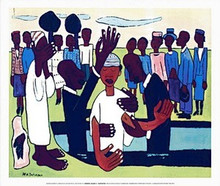 I Baptise Thee Art Print - William H. Johnson