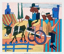 Going to Church (mini) Art Print - William H. Johnson