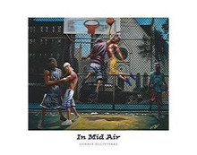 In Mid Air (28 x 22) Art Print - Lonnie Ollivierre