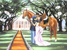 The Goodbye Kiss Art Print - Katherine Roundtree