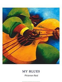 My Blues (24 x 32) Art Print - Philemon Reid