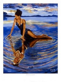 Reflections of a Queen Art Print - A.C. Smith