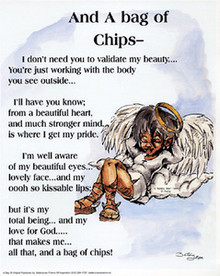 And a Bag of Chips (Angel) (mini) Art Print - Donald Young