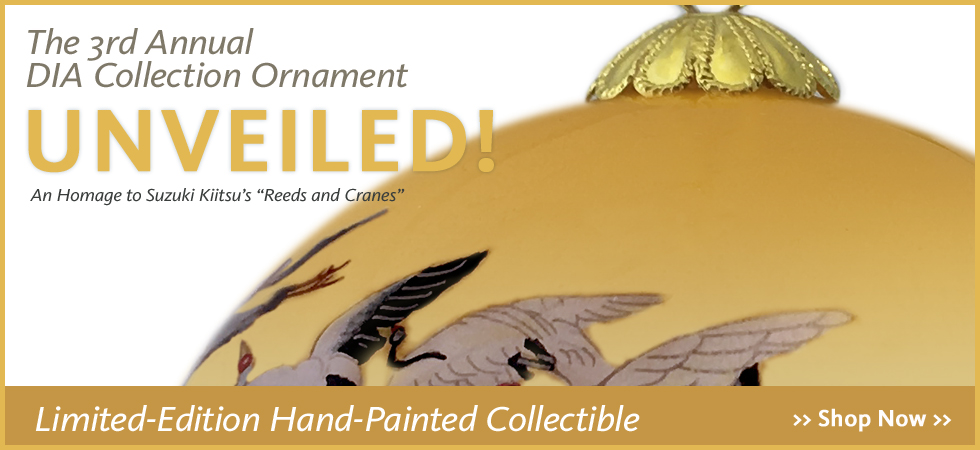 Limited edition, hand-painted collectible ornament from the DIA's collection, only available at the Detroit Institute of Arts museum shop.