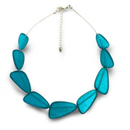 Triangles Necklace, Aqua