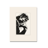 The Thinker Limited Edition Numbered Block Print