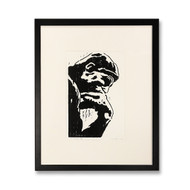 The Thinker Limited Edition Framed Woodblock Print