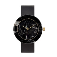 Mason Black Marble Watch