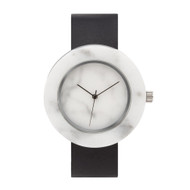 Mason White Circular Marble Watch