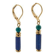 Egyptian Lapis & Turquoise Earrings