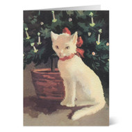 Ruellan: Cat with Christmas Bow Boxed Cards