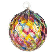 "Rainbow Diamond Facet Classic 3"" Glass Ornament"