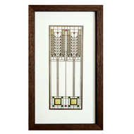 Frank Lloyd Wright Tree of Life Shadow Box, Walnut
