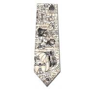 Da Vinci Sketches Silk Tie