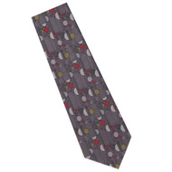 Frank Lloyd Wright Grey Confetti Silk Tie