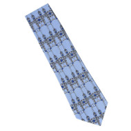 Frank Lloyd Wright Blue Robie Gate Silk Tie