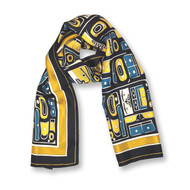 Chilkat Sea Bear Silk Scarf