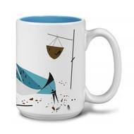 Charley Harper Blue Jay Grande Mug