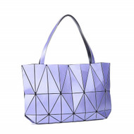 Purple Geo- Flex Satchel