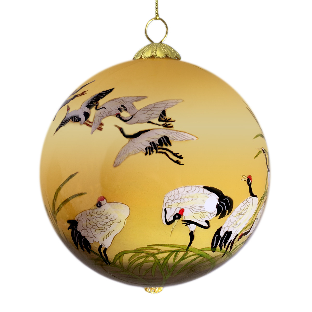 DIA Collection Ornament 3rd Annual Limited Edition Reeds and Cranes ...