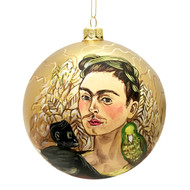 Gold Frida Ornament
