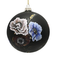Black Flowers Ornament