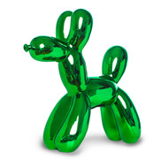 Kelly Green Balloon Dog Sculpture / Bank