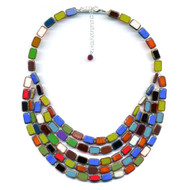 Five Strand Rainbow Trilogy Necklace