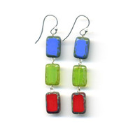 3 Tile Rainbow Trilogy Earrings